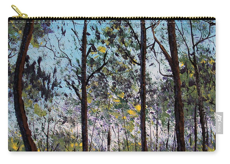 Forest Carry-all Pouch featuring the painting Beauty Around Us 1 by Gloria E Barreto-Rodriguez