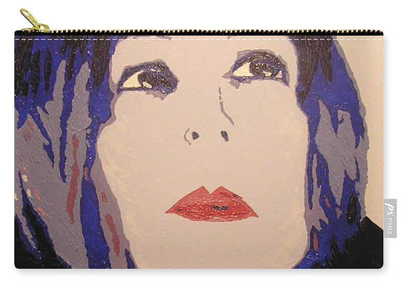 Portrait Carry-all Pouch featuring the painting Beauty Beyond the Blue by Ricklene Wren