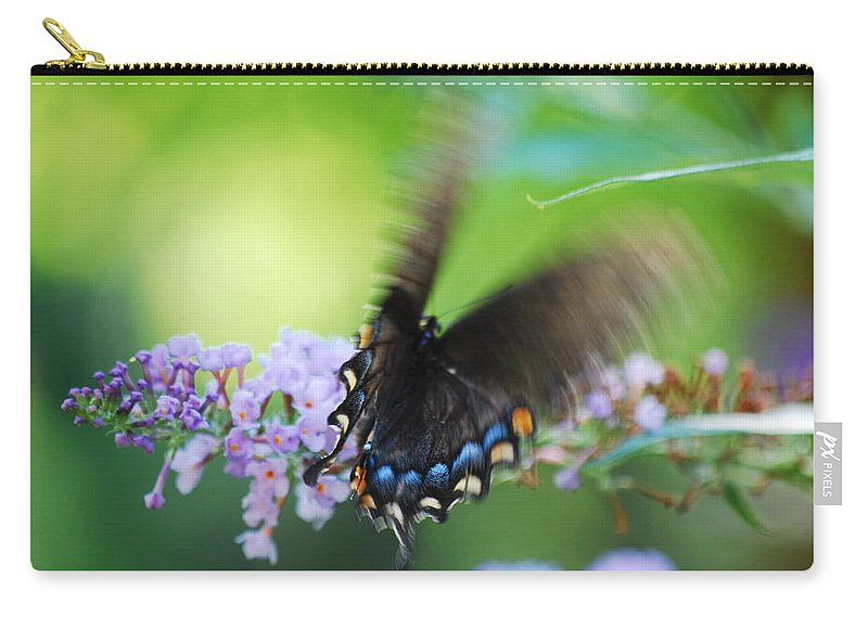 Butterfly Carry-all Pouch featuring the photograph Beauty In Motion by Lori Tambakis