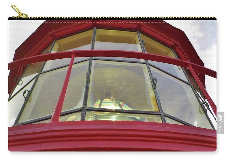 St Augustine Carry-all Pouch featuring the photograph Beauty In The Lighthouse Lens by D Hackett