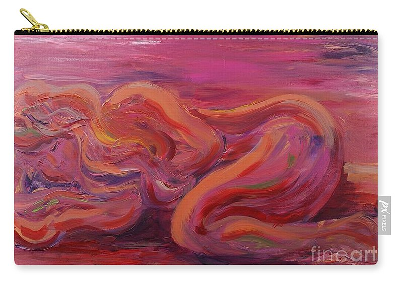Nude Carry-all Pouch featuring the painting Beauty by Nadine Rippelmeyer