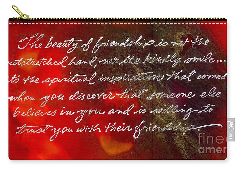 Gretting Cards Carry-all Pouch featuring the painting Beauty Of Friendship by Angela L Walker