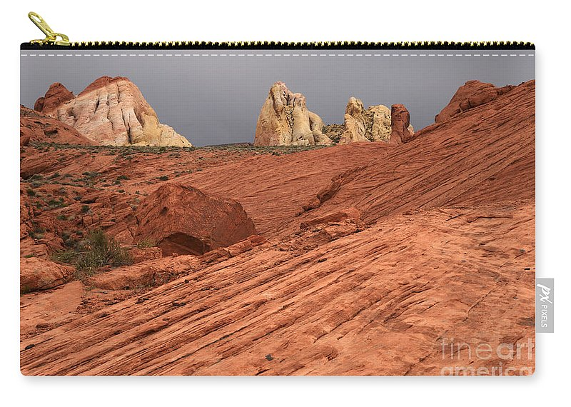Nevada Carry-all Pouch featuring the photograph Beauty Of The Sandstone Landscape by Bob Christopher
