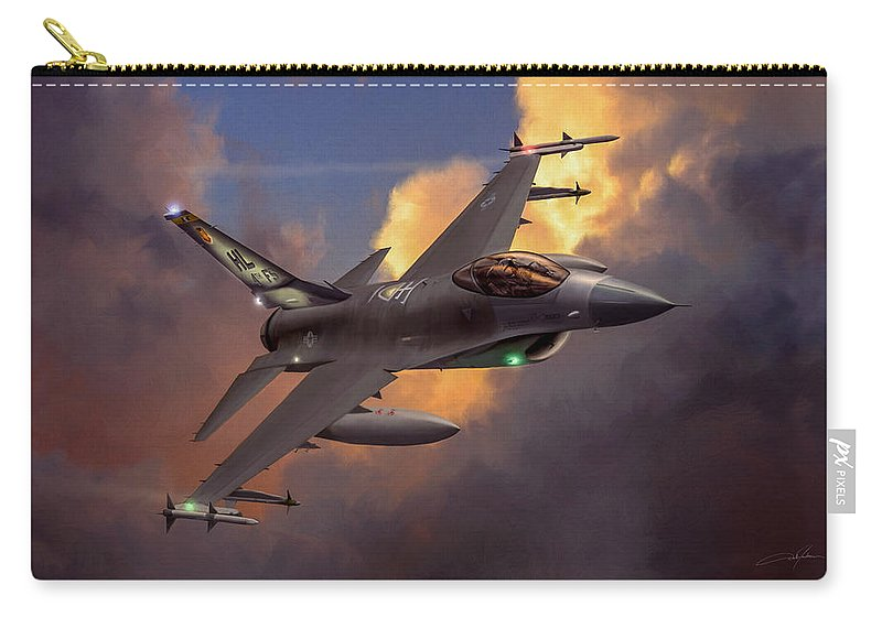 F-16 Carry-all Pouch featuring the digital art Beauty Pass by Dale Jackson