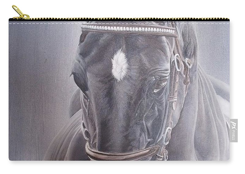 Horse Carry-all Pouch featuring the painting Beauty Spot by Pauline Sharp