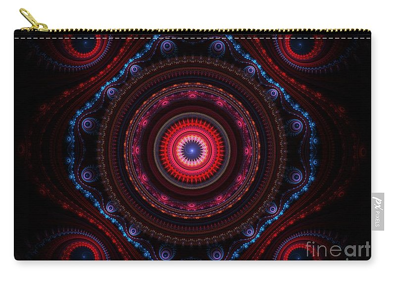 Beauty Carry-all Pouch featuring the painting Beauty by Steve K