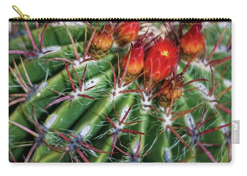 Blooming Carry-all Pouch featuring the photograph Beauty's Protections by Martina Schneeberg-Chrisien