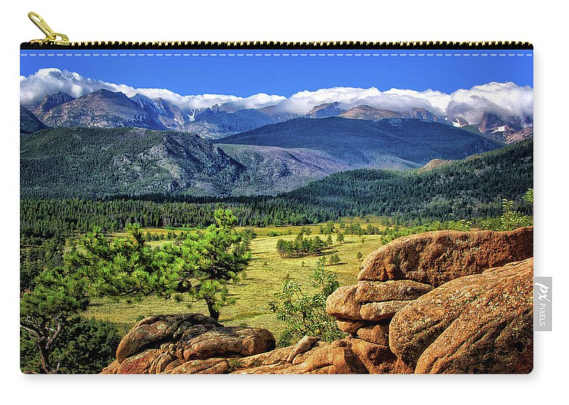 Beaver Meadows In Rocky Mountain National Park Carry-all Pouch featuring the photograph Beaver Meadows In Rocky Mountain National Park by Carolyn Derstine