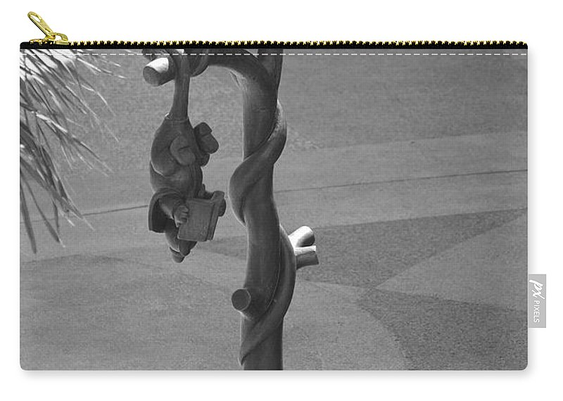 Black And White Carry-all Pouch featuring the photograph Beavers Bats And Squirrels by Rob Hans