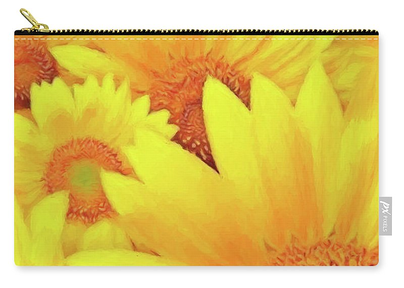 Flower Photographs Carry-all Pouch featuring the photograph Because I'm Happy by Shae Aja