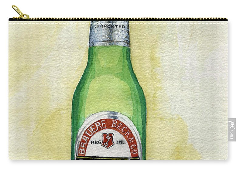 Botle Carry-all Pouch featuring the painting Becks by Alban Dizdari