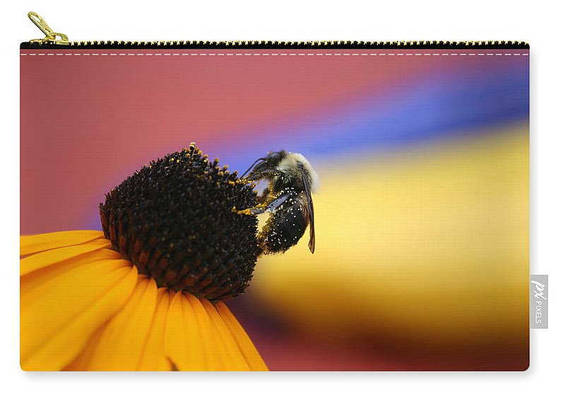 Insects Carry-all Pouch featuring the photograph Bee All You Can Bee by Linda Sannuti