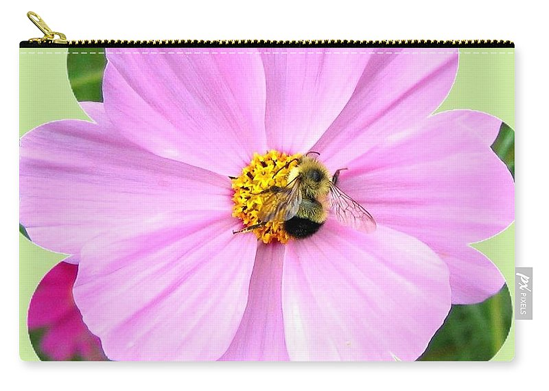 Photo Design Carry-all Pouch featuring the photograph Bee-line 1 by Will Borden