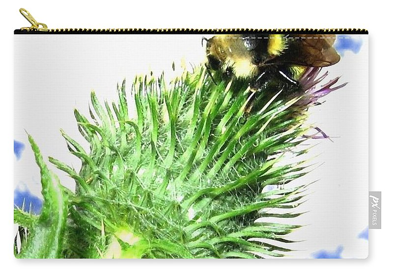 Bee Carry-all Pouch featuring the photograph Bee-line 4 by Will Borden