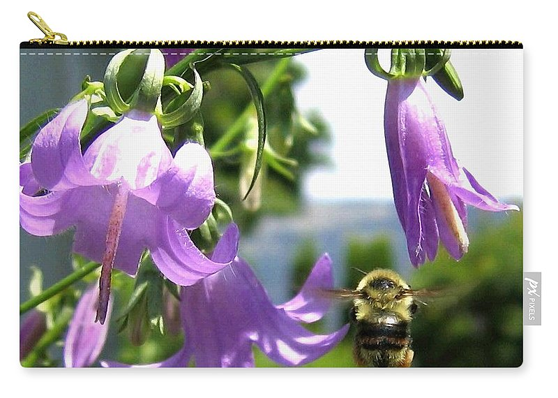 Bee Carry-all Pouch featuring the photograph Bee-line 5 by Will Borden