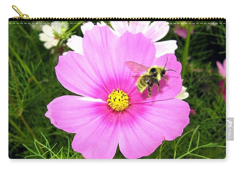 Bee Carry-all Pouch featuring the photograph Bee-line 6 by Will Borden