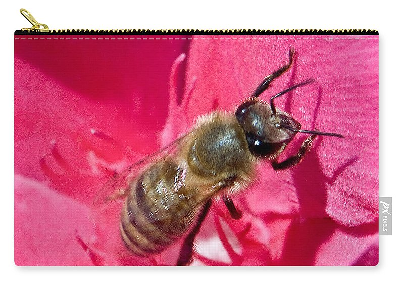 California Scenes Carry-all Pouch featuring the photograph Bee Mine by Norman Andrus
