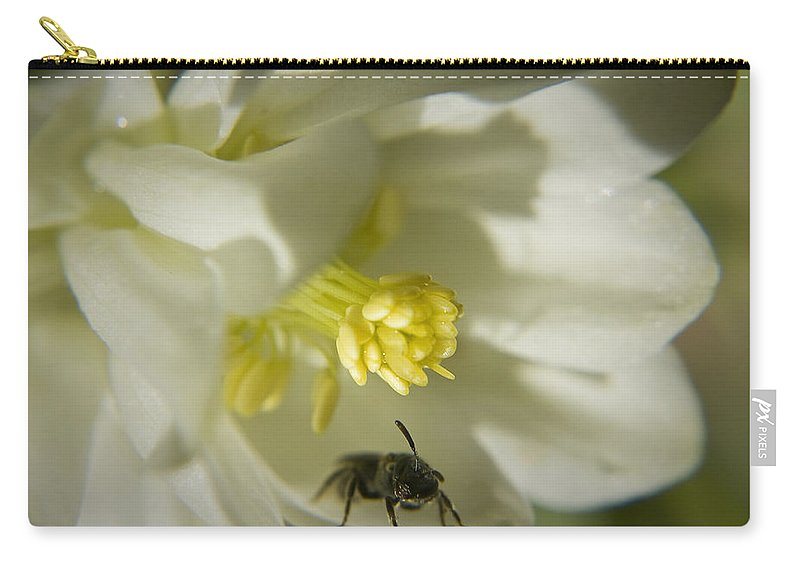 Columbine Carry-all Pouch featuring the photograph Bee Mine by Teresa Mucha