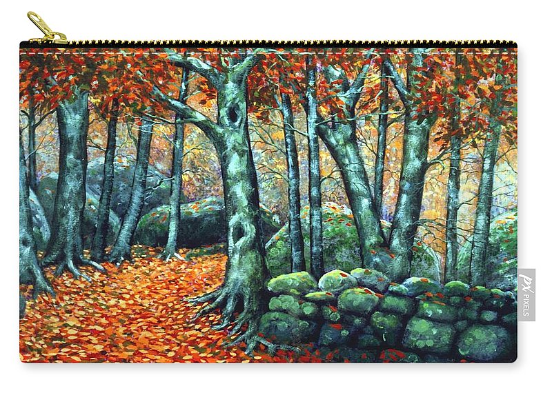 Landscape Carry-all Pouch featuring the painting Beech Woods by Frank Wilson