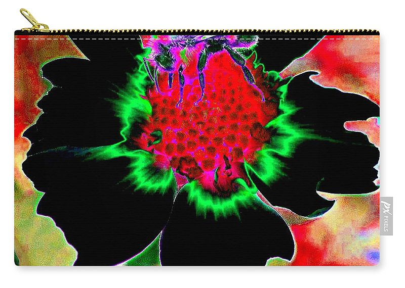 Bee Carry-all Pouch featuring the digital art Beedazzling by Will Borden