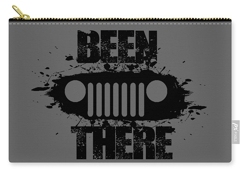 Jeep Carry-all Pouch featuring the digital art Been There In A Jeep by Paul Kuras