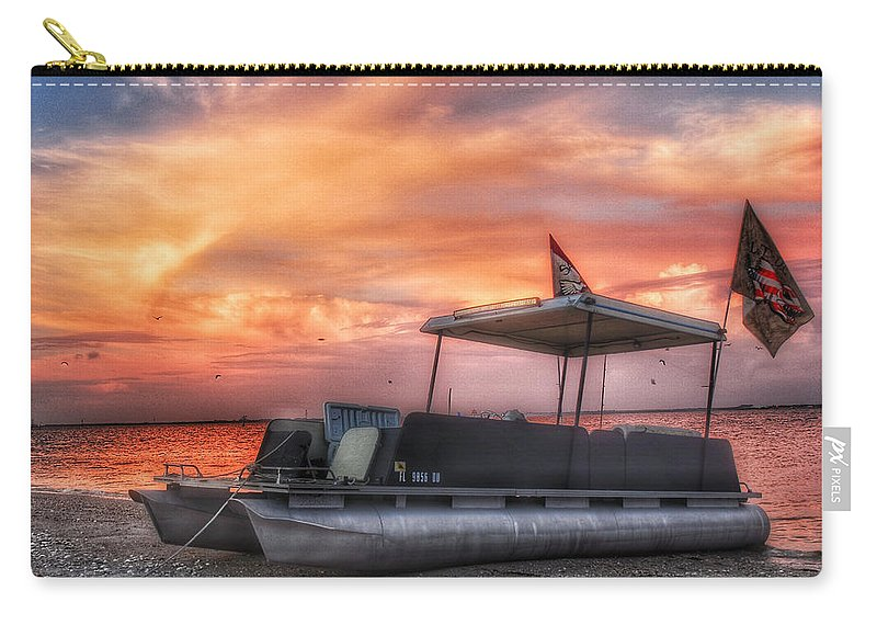Boat Carry-all Pouch featuring the photograph Beer Can Island Sunset by Allen Williamson