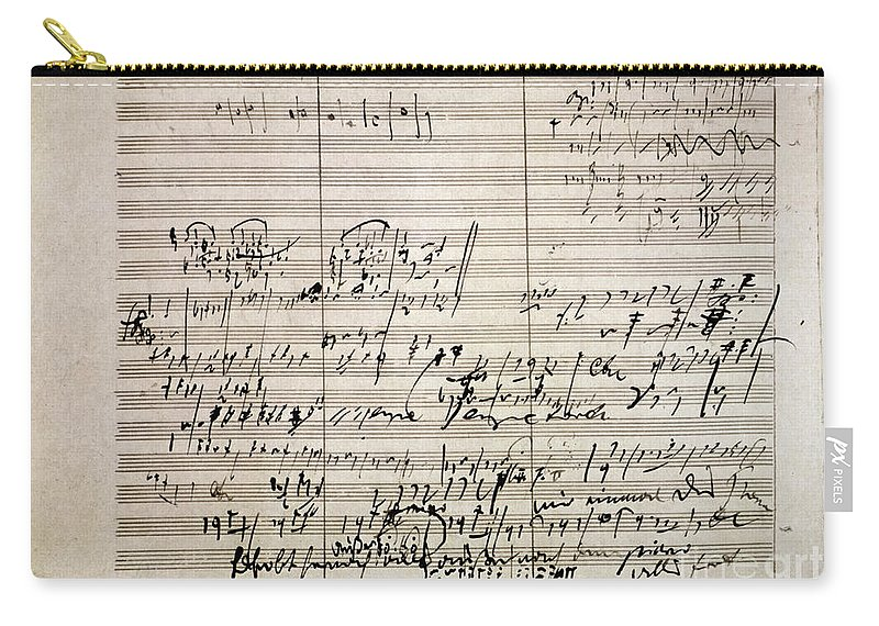 18th Century Carry-all Pouch featuring the photograph Beethoven Manuscript by Granger