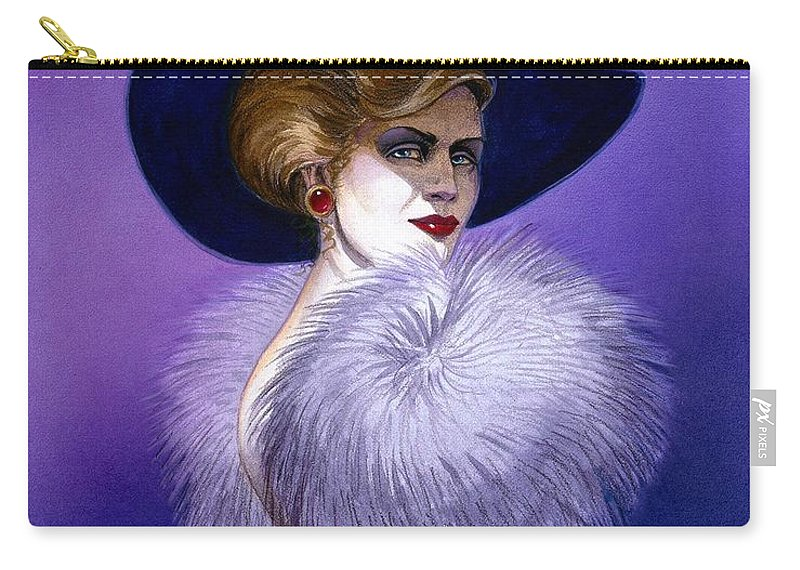 Purple Carry-all Pouch featuring the painting Beezu by Melissa A Benson