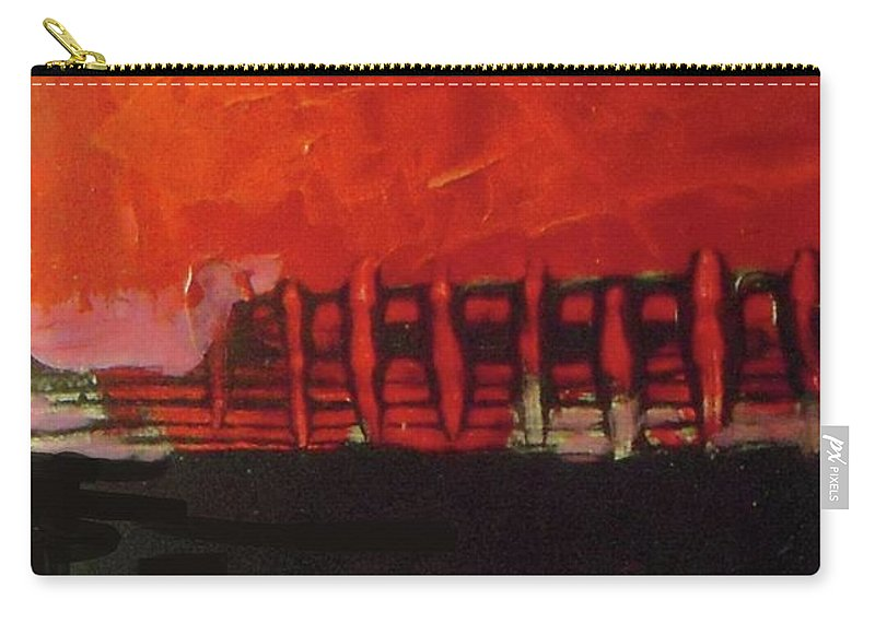 Abstract Carry-all Pouch featuring the painting Before Performance by Vesna Antic