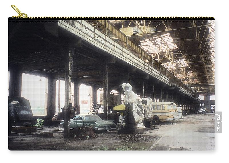 Abandoned Carry-all Pouch featuring the photograph Behind Closed Doors by Richard Rizzo