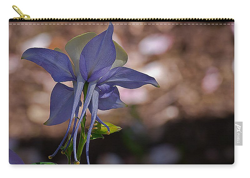 Aquilegia Carry-all Pouch featuring the photograph Behind Columbine by Emerald Studio Photography