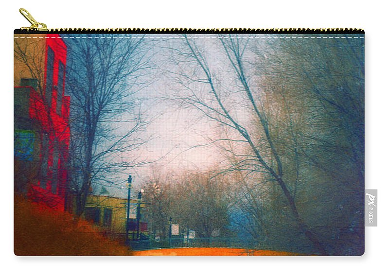 Penticton Carry-all Pouch featuring the photograph Behind Front Street by Tara Turner
