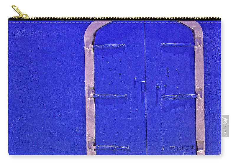 Door Carry-all Pouch featuring the photograph Behind The Blue Door by Debbi Granruth