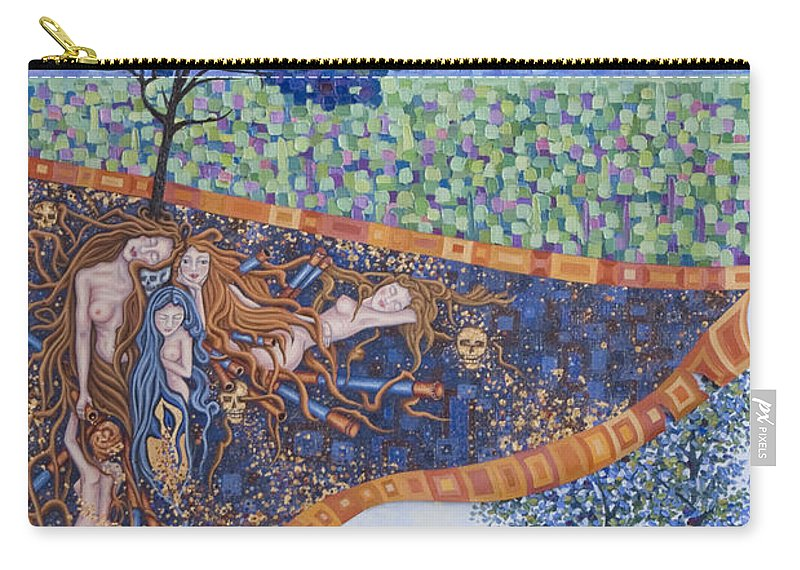 Canvas Carry-all Pouch featuring the painting Behind The Canvas by Judy Henninger