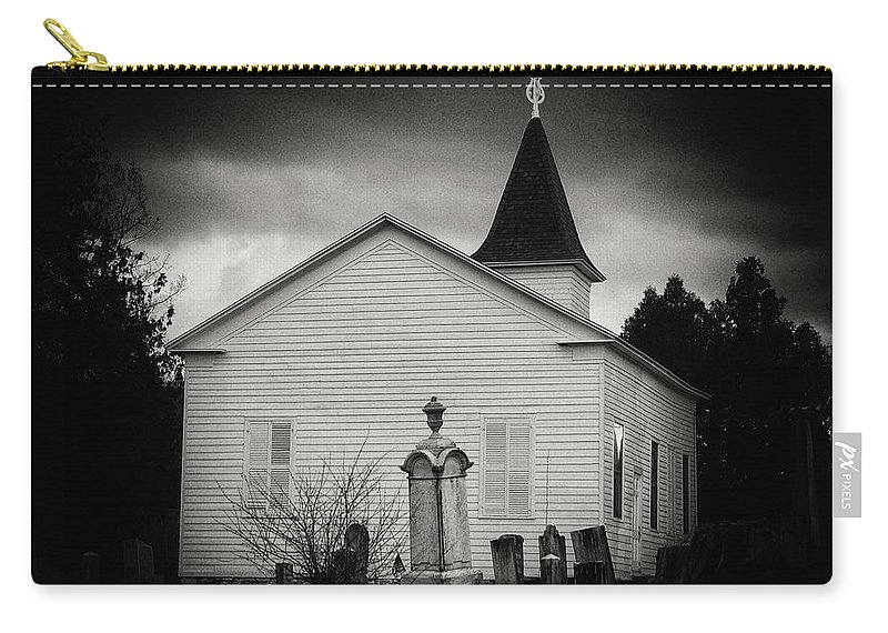 Church Carry-all Pouch featuring the photograph Behind The Church by Marvin Borst