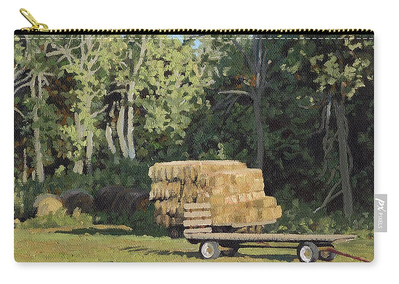 Landscape Carry-all Pouch featuring the painting Behind the Grove by Bruce Morrison