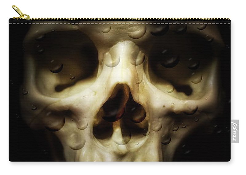 Background Carry-all Pouch featuring the photograph Behind The Mask by Christina Dutkowski