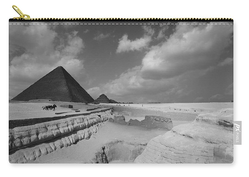 Pyramid Carry-all Pouch featuring the photograph Behind The Sphynx by Donna Corless