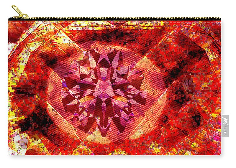 Abstract Carry-all Pouch featuring the photograph Behold The Jeweled Eye Of Blood by Seth Weaver