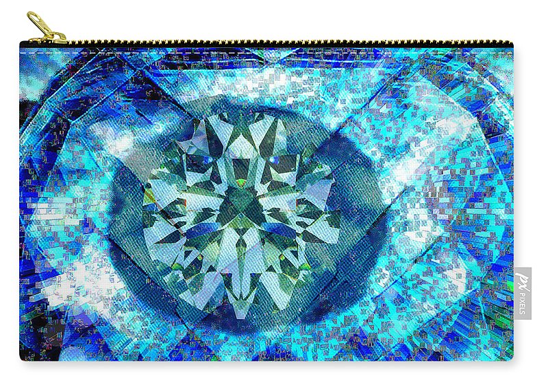Abstract Carry-all Pouch featuring the digital art Behold The Jeweled Eye by Seth Weaver