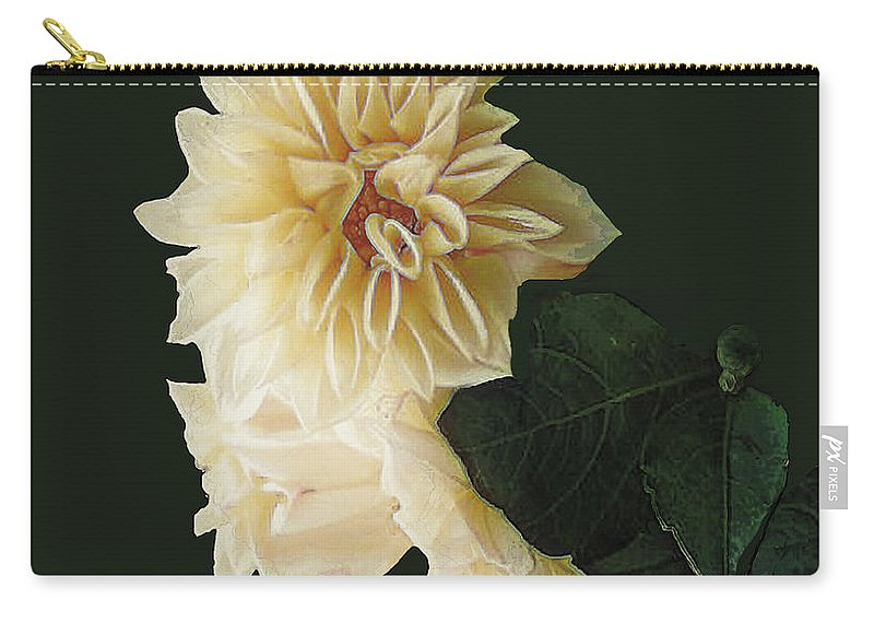 Beige Carry-all Pouch featuring the digital art Beige Bold And Beautiful by RC DeWinter