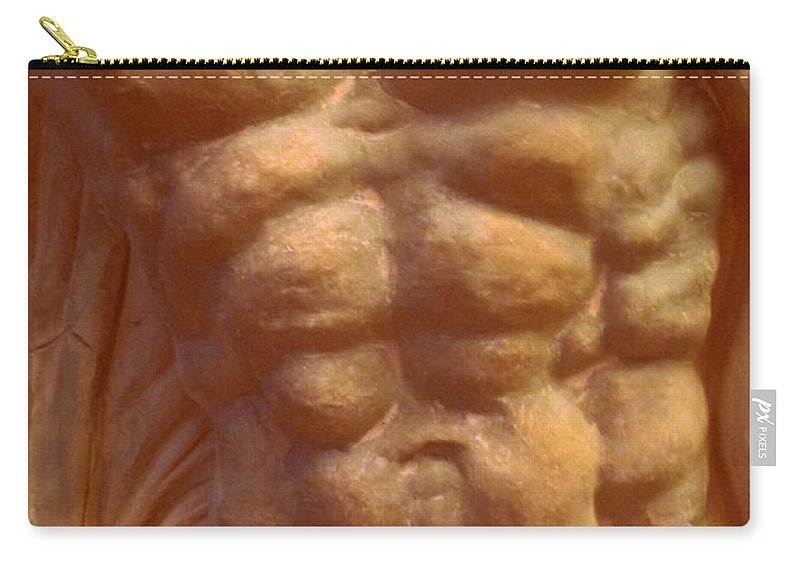 Torso Carry-all Pouch featuring the photograph Beige Torso by Randall Weidner