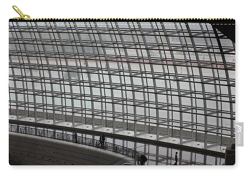 Beijing Carry-all Pouch featuring the photograph Beijing National Theatre With Silhouettes by Carol Groenen