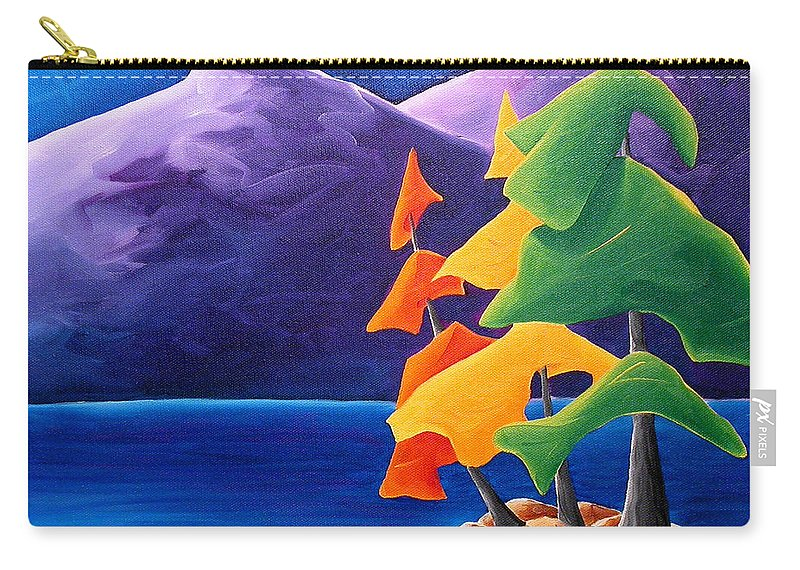 Landscape Carry-all Pouch featuring the painting Being Thankful by Richard Hoedl