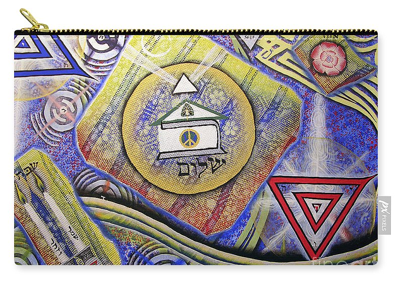 Luke Carry-all Pouch featuring the painting Beit Shalom by Luke Galutia