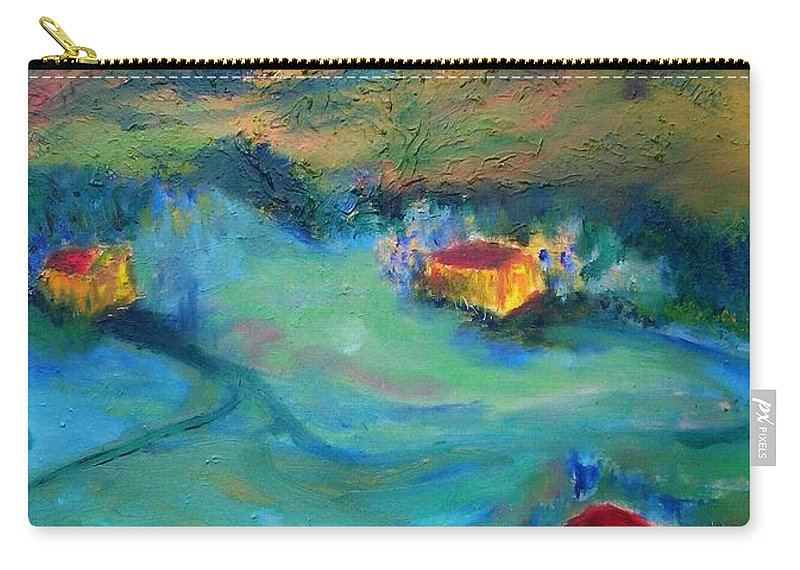 Landscape Carry-all Pouch featuring the painting Beit Shemesh by Suzanne Udell Levinger