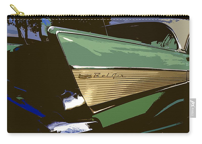 Chevy Carry-all Pouch featuring the painting Belair by David Lee Thompson