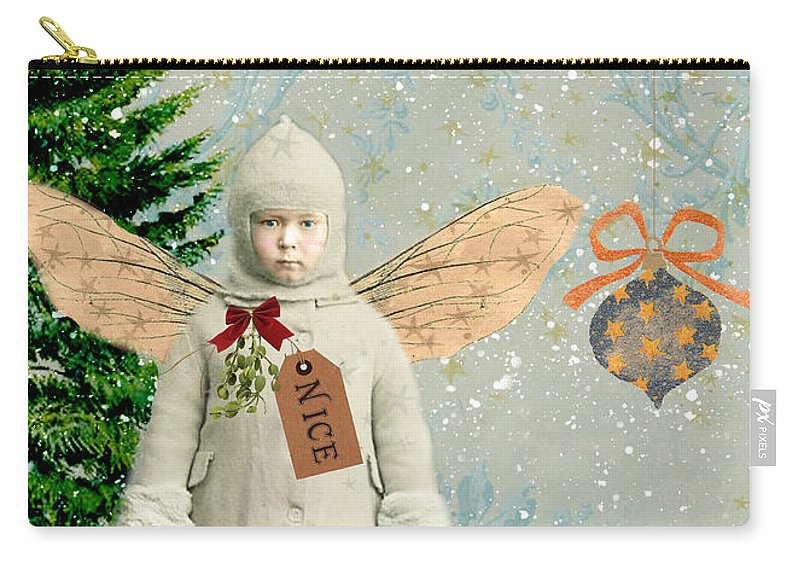 Sandy Lloyd Carry-all Pouch featuring the painting Believe by Sandy Lloyd