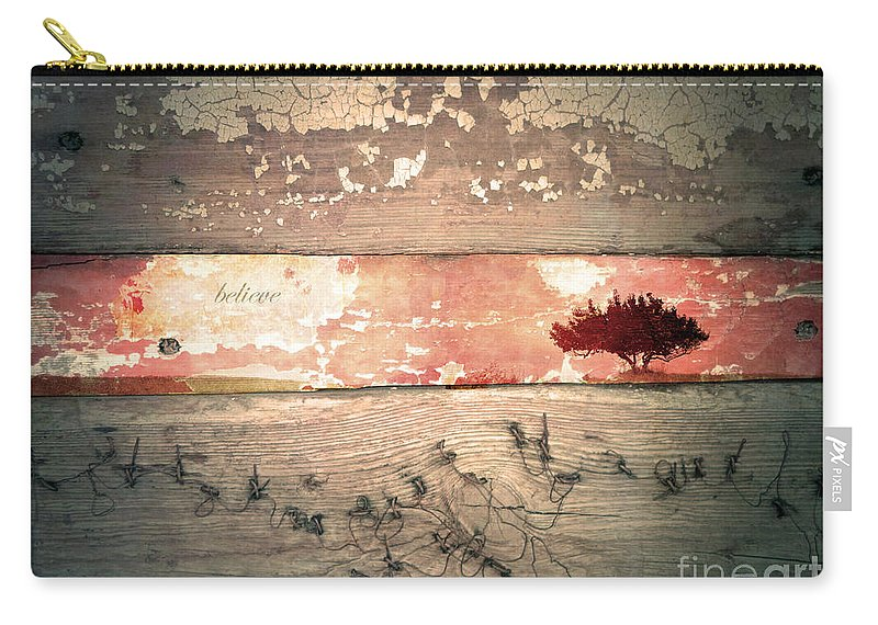 Believe Carry-all Pouch featuring the photograph Believe by Tara Turner