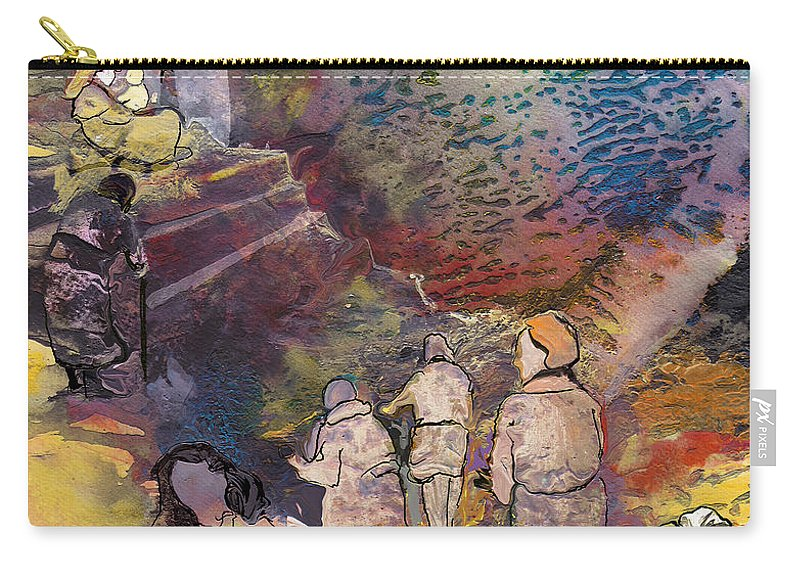 Fantasy Carry-all Pouch featuring the painting Believing Or Not Believing by Miki De Goodaboom